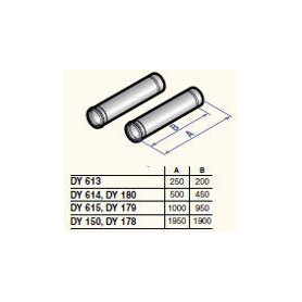 DeDietrich stovepipes D80, 500mm, DY614, 2Pcs