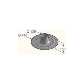 DeDietrich stovepipe outlet for straight roof D150, CX103