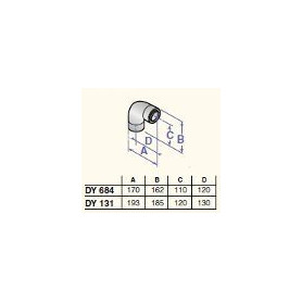 DeDietrich stovepipe elbow 87* D60/100, DY684
