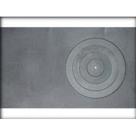 Jugne-L cast iron stove surface, A-36a, 760x455, with 1 ring