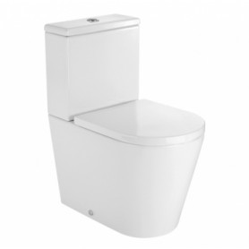 Roca Inspira Round Compact WC toilet bowl base 376x600 mm, universal outlet, white
