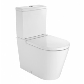 Roca Inspira Round WC toilet bowl base 376x645 mm, universal outlet, white