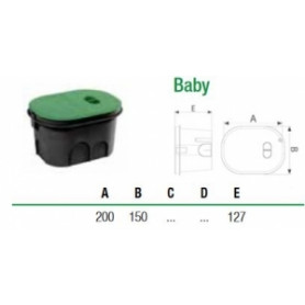 SAB garden watering electric valve shaft BABY, oval