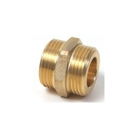"""Tiemme Nipple MM for corrugated tube, brass MM 1"""""""
