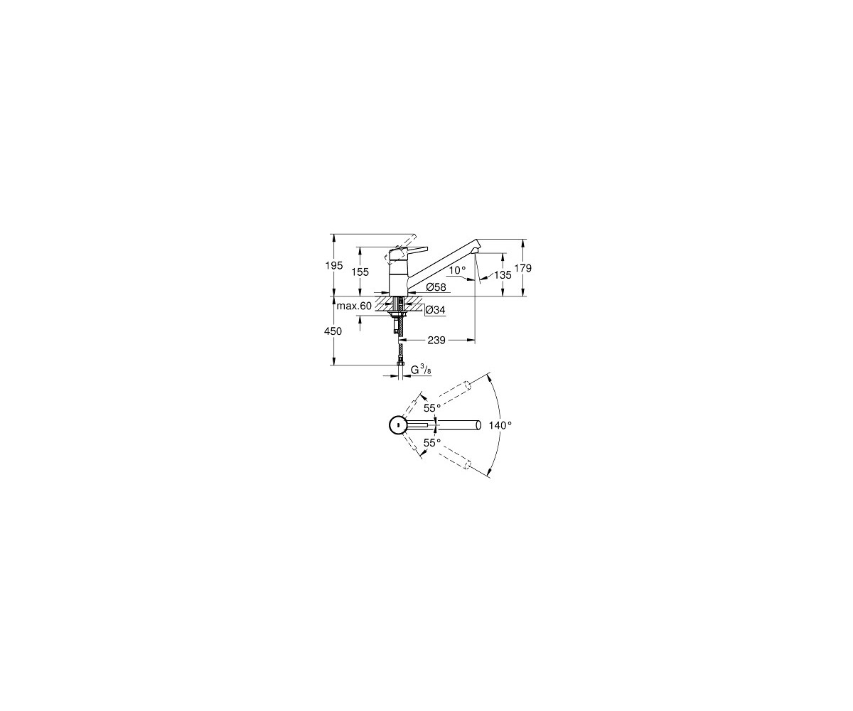 Grohe Concetto Kitchen Mixer 32659001 Automatic Sink Faucet Wiring Diagrams Ohm Swivel Spout