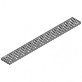 ACO mesh grating W123 L499,5 bar 20x2, plain, LC A15, 1.4404