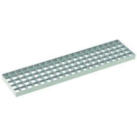 ACO mesh grating W123 L499,5 bar 30x3, antislip, LC C250, 1.4301