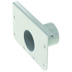 ACO modular box channel 125 end plate H80 with outlet D50, EN1433, 1.4301
