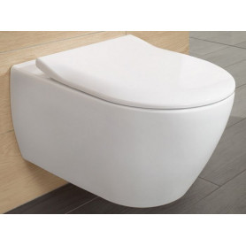 Villeroy&Boch Subway 2.0 WC tualetes pods piekarams Combipack, Direct Flush, SlimSeat 101500100
