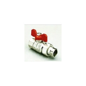 """Tiemme Ball valve 1/2"""" with connection nuts, straight"""