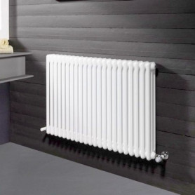Radiators Ardesia 3 rindu, H-500, 6 sekcijas, balts