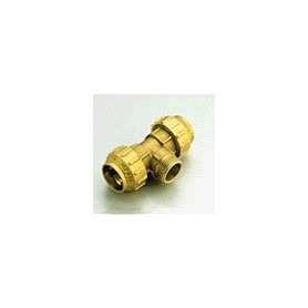 """Tiemme brass compression T-piece with outer thread D40x1 1/4"""""""