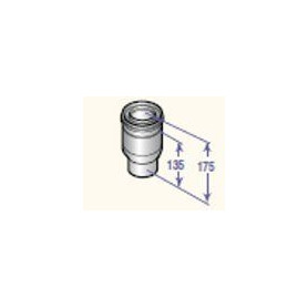 DeDietrich stovepipe transition, from 60/100 to 80/125, DY708