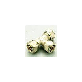 PE-X compression T-piece, reduced 20x16x20 for multilayer pipe