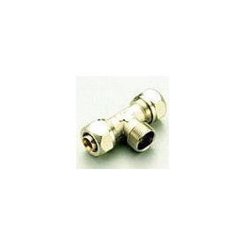 PE-X compression T-piece 16x1/2 Mx16 for multilayer pipe