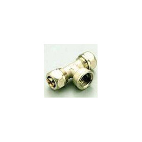 PE-X compression T-piece 16x1/2Fx16 for multilayer pipe