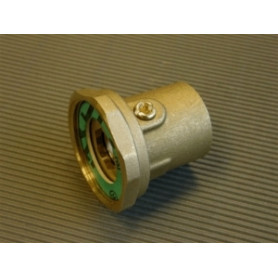 Tiemme 1Fx11/2 water pump connection nut with valve, brass
