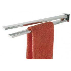 Tiger Items double towel rail, brushed stainless steel