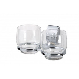 Tiger Viena glass holder with 2 glasses 3127.3, chrome