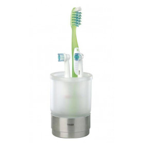 Tiger Boston surface mounted toothbrush holder, polished stainless steel