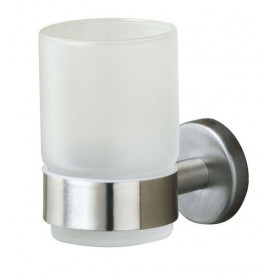 Tiger Boston glass holder, brushed stainless steel