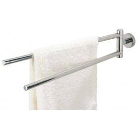 Tiger Boston double towel rail, brushed stainless steel