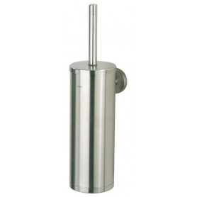 Tiger Boston toilet brush and holder, brushed stainless steel