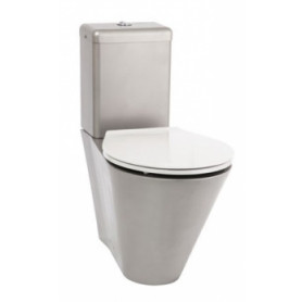 AZP Brno AUZ 06N stainless steel WC toilet bowl, floor mounted, with gray seat