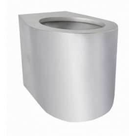 AZP Brno BSNZ 02 stainless steel WC toilet bowl, floor mounted, without seat, antivandal