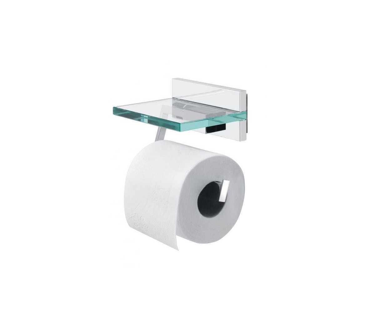Tiger Toilet Accessoires : Tiger safira toilet paper holder with cover chrome glass