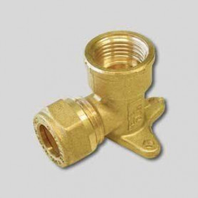 Copper compression wall mount 12x1/2F, ring
