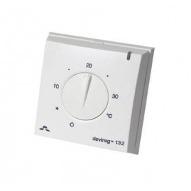 Thermostat devireg™ 132, 5..35°C, 16A, with floor temperature limit 140F1011