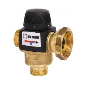 ESBE thermostat valve VTA577, 20-55°C, G1xPF1 1/2, Kvs4.5, with connection nut