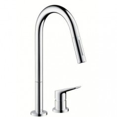 Axor Citterio M 2-hole kitchen mixer, with pull-out spout, 34822000