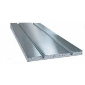 Capricorn aluminum insulating plate, for 16mm heated floor pipe, 2 channels