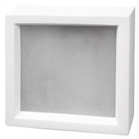 Ceiling mounted flat lamp PLASTER 2x60W E27, white