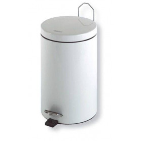 Mediclinics PP1305 waste bin with a pedal, 5L, stainless steel, white