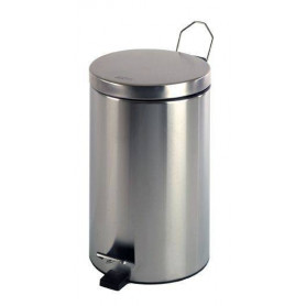 Mediclinics PP1305C waste bin with a pedal, 5L, stainless steel, polished finish