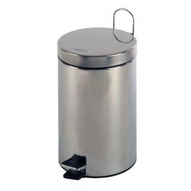 Mediclinics PP1305CS waste bin with a pedal, 5L, stainless steel, matte finish