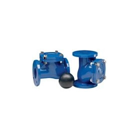 Flanged industrial non-return valve, ball-type DN65, PN16