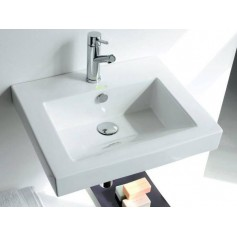 Bathco washbasin Funchial Semi-recessed 0062 550x445x175mm
