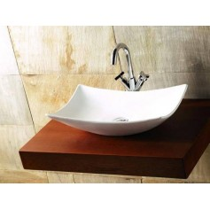 Bathco washbasin Magdalena with water mixer hole 0092 570x390x145mm