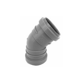 Uponor HTP indoor sewage pipe elbow with 2 sleeves 50 45°