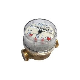 Water counter Zenner USC3/4, Qn2.5m³/h, 90°C, without connection nuts
