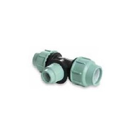 SAB reduced compression T-piece for PE pipe PN10, d25xd20xd25