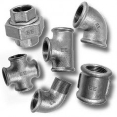 Galvanized cast iron fittings
