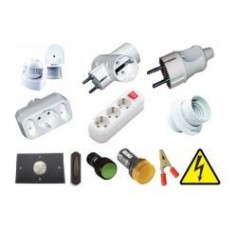 Electrical cartridges, motion sensors, door bells and industrial sockets
