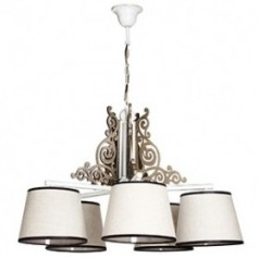 Lamps with textile and synthetic lampshade