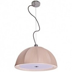 Ceiling lamps with textile and synthetic lampshade